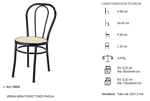 Versione con cerchio art n with thonet sedie catalogo for Sedie design imitazioni